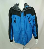 Marmot Alpinist Climbing Jacket Gore-tex Parka Coat Blue & Black Mens Medium