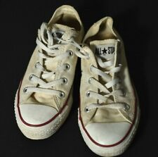 Converse All Star Beige Canvas Lace Up Low Top Shoes Men Size 4 Women 6