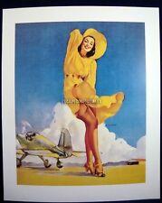 Elvgren < Tail Wind > Airplane Passenger Mishap Aviation Pin Up Girl 10x12 Print
