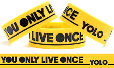 Y.O.L.O. Wristband Yellow You Only Live Once Bracelet The Strokes Inspired Band
