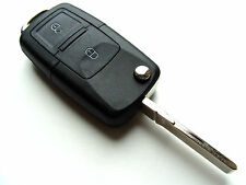 Seat Alhambra Altea 2 Button Flip Remote Key Fob Case + Blank HAA Blade