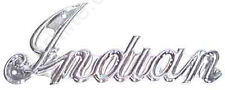 Indian Motorcycle Script Tank Emblems #524010 Chrome