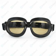 cool Aviator Pilot Cruiser Motorcycle Scooter ATV Goggles Eyewear smoke lens