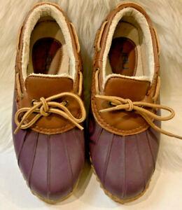 Jambu Womens rain shoes JBU Gwen Weather-Ready Slip-On Duck Shoes purple 7M