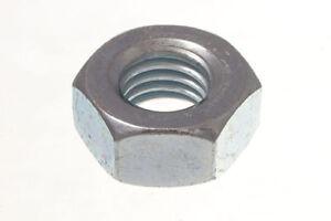 Menge Von 100 Sechskant Kopf Muttern 10Mm M10 BZP Hell Verzinkt Stahl - See Bild