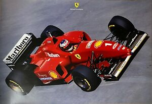 FERRARI F1 - F310 -M.Schumacher - Poster manifesto originale numerato - 1996 -