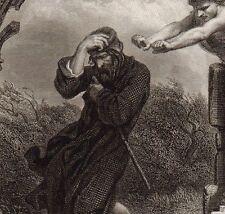 Gravure XIXe Le Juif Errant Wandering Jew  Ewiger Jude 1856 היהודי הנודד