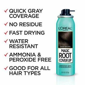 L'OREAL PARIS Magic Root Cover Up Spray 2oz 3-pack MEDIUM BROWN - FREE SHIPPING