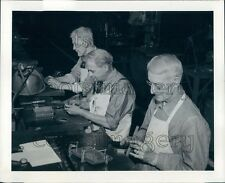 1943 WWII Era US Older Expert Firestone Tire & Rubber Workers Press Photo