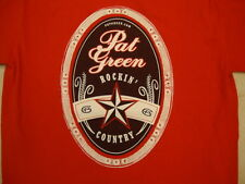 Pat Green Rockin' Country Tour country music singer Red T Shirt S