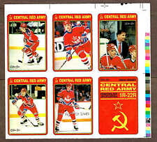 1990-91 OPC Uncut Progressive Proof Panel, Fedorov, Kamensky... (6)