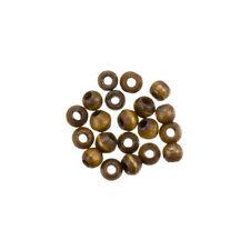 Cuentas de hueso Marrón Oscuro Redondo 4 mm étnico Rondelles Pack de 20 (H37/6)