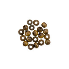 Dark Brown Bone Beads Round 4mm Ethnic Rondelles Pack of 20 (H37/6)