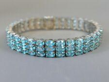 Fine Gemporia Sterling Silver Madagascan Blue Apatite Bracelet   41
