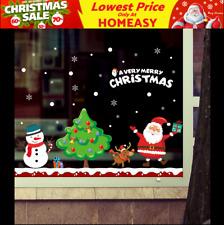 Santa Gift Christmas Wall Decals Vinyl Window Sticker Removable Xmas Decor DIY