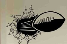 FOOTBALL RIPPING THROUGH WALL Vinyl Decal Sticker Home Decor Words Lettering