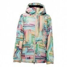 Nikita Womens Magnolia Snowboarding Insulated Jacket Multi Geometric S New