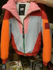 ASOS 4505 Ski & Snow Jacket - Red, Orange, Pink RETRO 90's Colors - Size Small