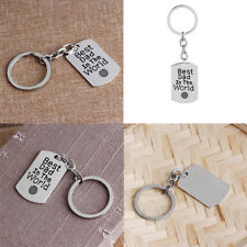 Best Dad In The World Letter Keychain Car Key Ring Father's Day Gift Welcome