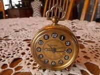 Salvage Vintage Trenkle Germany Alarm Clock Wind Up Filigree Sides Not working