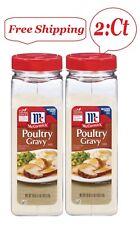 2 Pk McCormick Poultry Gravy Mix 18 oz.