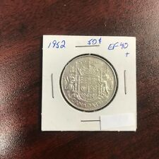 1952 Canadian 50 Cent Coin SILVER