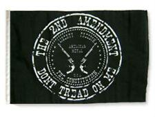 "12x18 12""x18"" 2nd Amendment Black Symbol Crest Sleeve Flag Boat Car Garden"