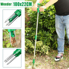 100cm Garden Weeder Land Weed Puller Stand-Up Weeding Root Removal Hand Tool