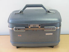 Vintage American Tourister Hardshell Train Case w/Tray Cosmetic Vanity Luggage