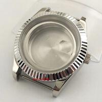 40mm sapphire glass Silver Watch Case fit ETA 2836 Miyota 8215 821A P838