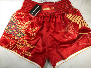 Hayabusa Falcon Muay Thai Shorts Size XXL In Red