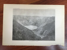 1883 Hawaii Lithograph Book Plate of Poli-O-Keawe - Near Kilauea