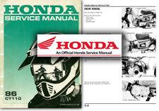 Honda CT110 'Postie Bike' Service Workshop Repair Manual CT 110 1986 Onwards