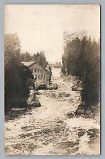 St. George New Brunswick RPPC Pulp Paper Mill—Rare Antique Photo 1929