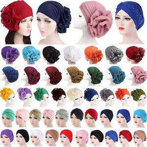 Womens Hair Loss Wrap Cancer Chemo Cap Muslim Turban Hat Hijab Beanie Head Scarf