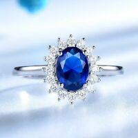 Damenring Echt Silber 925 Prinzessin Ring Smaragd Saphir Rubin Stein Geschenk.