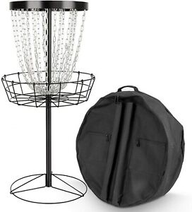 HOMFY 24-Chain Portable Disc Golf Basket Sports Practice Metal Disc Golf with