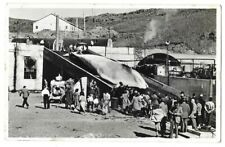 Real Photo Postcard - Loading a Giant Whale at Bay of Hvalfjordur, Iceland.