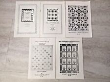 Vtg QUILT BOOKLET LOT & PATTERNS Mrs Danners,Quilts #190,Heirloom #160 5 Books