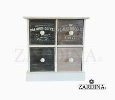 Vintage-De Madera Decorativa De 4 Cajones Mini Caja de almacenamiento
