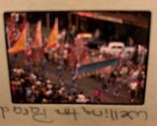 New listing 1950s Kodachrome Wellington New Zealand Photo Slide Chinese Flag Marching Parade