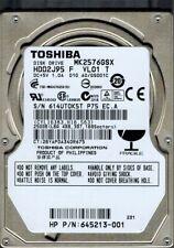 Toshiba MK2576GSX HDD2J95 F VL01 T 250GB