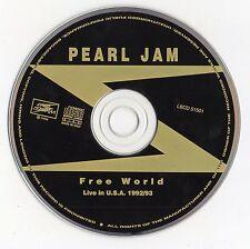 "PEARL JAM ""FREE WORLD - LIVE IN USA 1992/93"" ULTRA RARE ITALIAN BOOTLEG / VEDDER"
