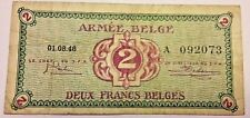 2 Francs Armée Belge Belgisch Leger 1946 Serie A  #F7#