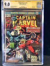 Captain Marvel #33 CGC Graded 9.0 SS Signed By Jim Starlin, Origin Of Thanos