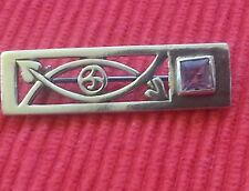 Solid silver vintage rene macintosh style brooch.stamped 825.continental silver.
