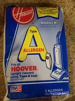 HOOVER TYPE A ALLERGEN VACUUM CLEANER BAGS Only 2 Bags
