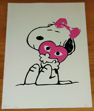 LARGE DEATH NYC Snoopy Love A/P Print - NYC COA & Sticker