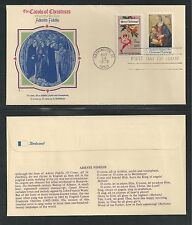 # 1580, 1579 CHRISTMAS CAROLS, ADESTE FIDELIS 1975 Fleetwood First Day Cover