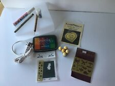 Embossing & stenciling tracing light box with brass templates ink & accessories